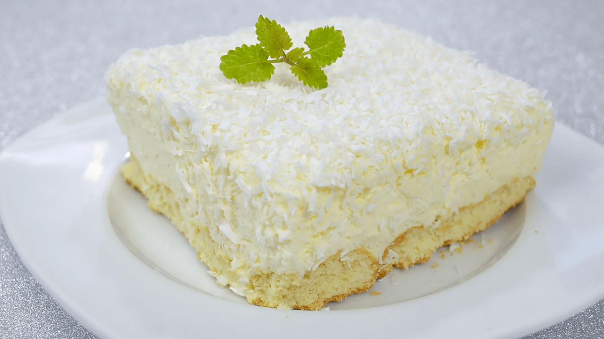 Ciasto Śnieżny Puch bez pieczenia + film