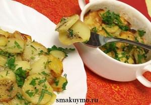 Рецепт запеченного в духовке картофеля Анна