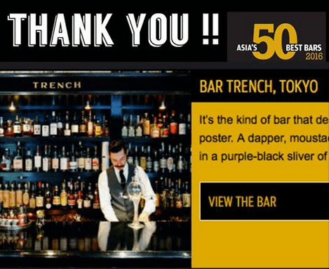 Bar TRENCH – Asia's Worlds Best 50 Bars