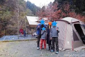 ウッドルーフ奥秩父オートキャンプ場家族写真