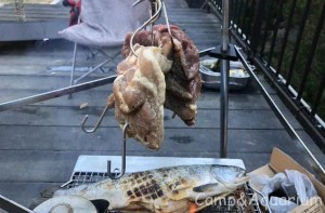 ブロック肉炙り焼き
