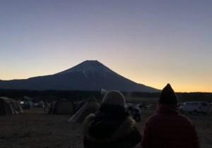 富士山初日の出前