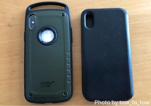 ROOT CO.iPhoneX GRAVITY Shock Resist Case Pro. appleレザーフォリオ