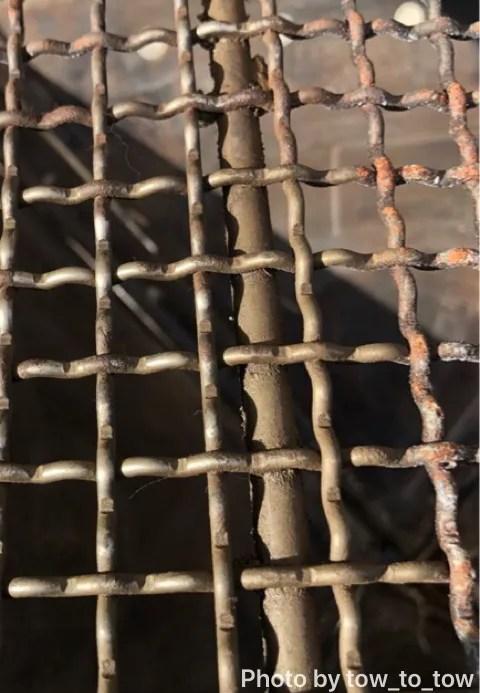 スノーピーク焚火台L 焼き網 サビ