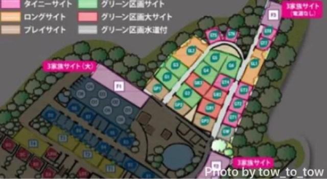 赤城山オートキャンプ場 場内マップ
