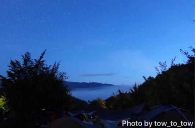 上毛高原キャンプグランド ちょい広ACサイト 夜明け