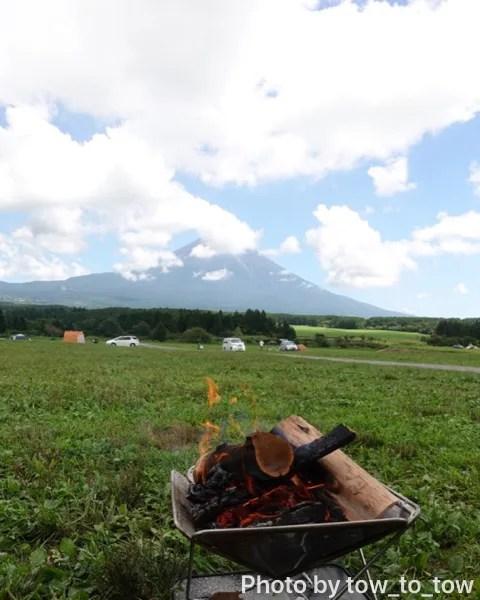 ふもとっぱら 富士山 焚き火