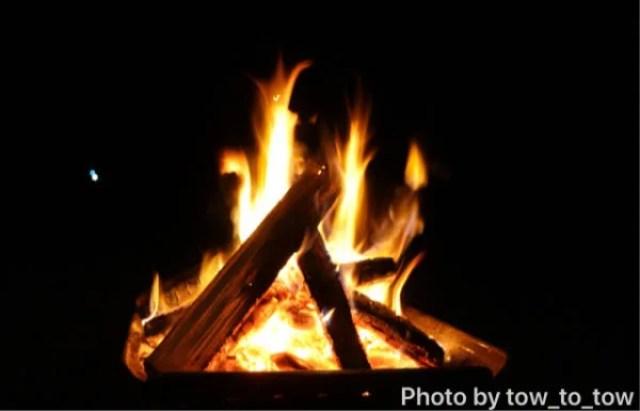 夜 焚き火