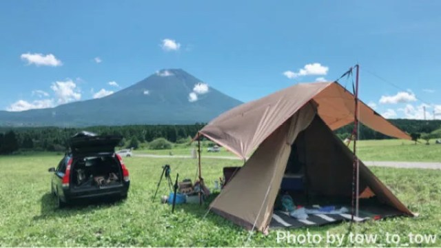 ふもとっぱら 富士山 サーカスTC 小川張り