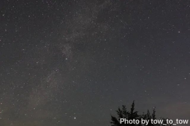上毛高原キャンプグランドから見える星