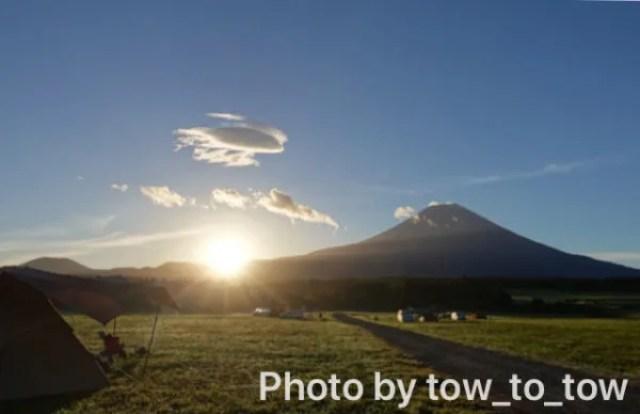 ふもとっぱら 富士山 日の出 キャンプサイト