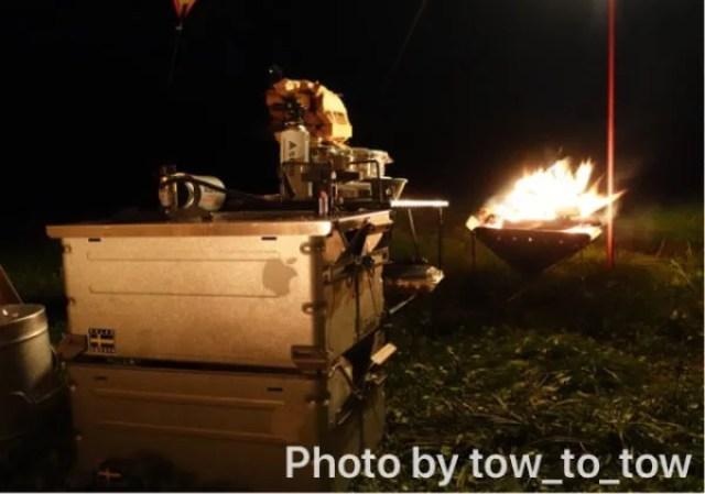 シェルフコンテナ25 ふもとっぱら 焚き火