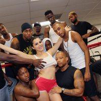 Valentina's Interracial Blowbang at the Gym