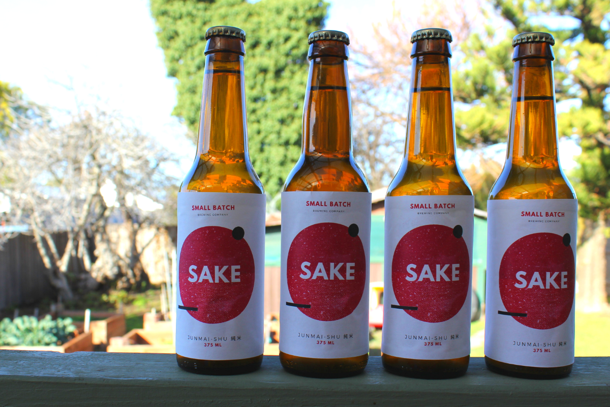 Homebrewed sake: straining, pasteurising and bottling