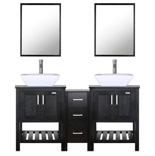 small bathroom double vanity ideas