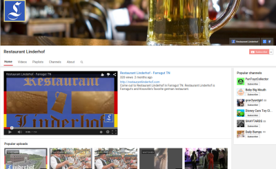 Restaurant Linderhof YouTube Channel