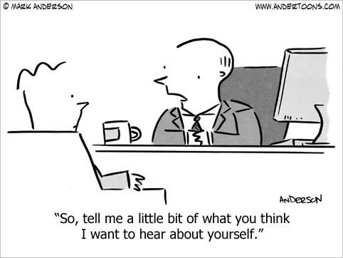 job interview business cartoon