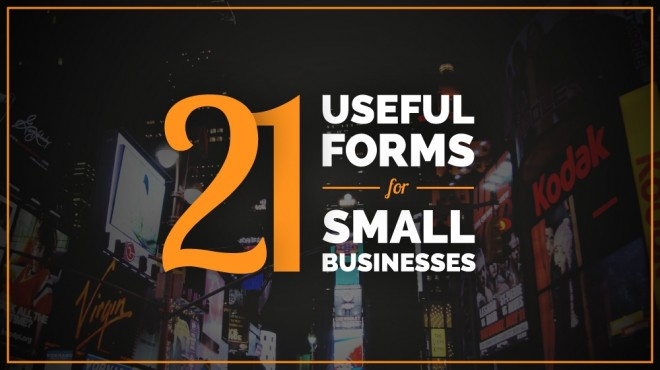 Forms For Small Businesses