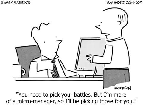 micro manager cartoon