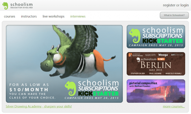 art education schoolism kickstarter