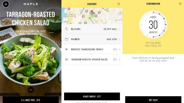 Aplicación móvil de la cadena de fast food Maple (Fuente: https://i1.wp.com/smallbiztrends.com/wp-content/uploads/2015/05/maple.jpg)