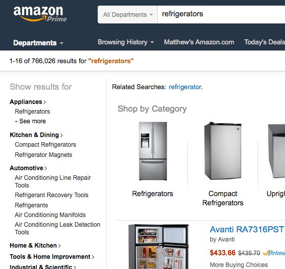 amazon results