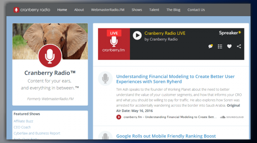 WebmasterRadio.fm relaunching as Cranberry.fm