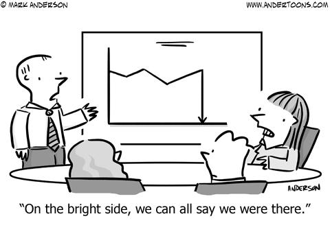 Sales Story Business Cartoon