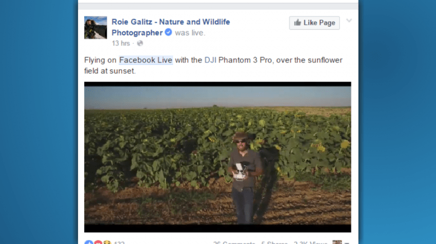 Facebook continuous live video API