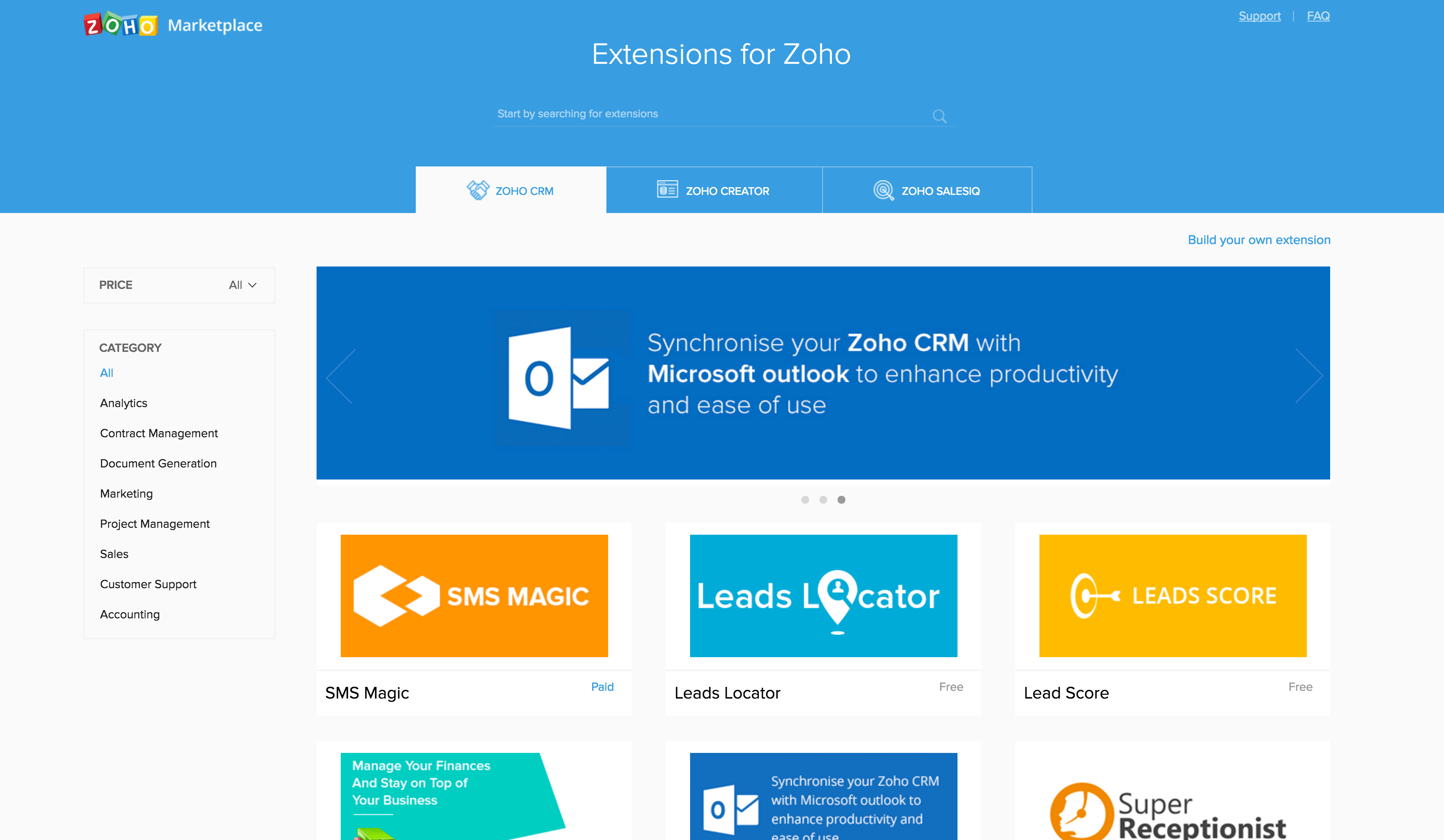 Zoho Developer Marketplace Announced Alongside Zoho SalesInbox