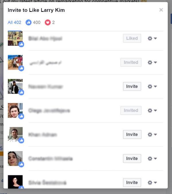 Facebook Trick for More Likes - Hidden Facebook Invite Button