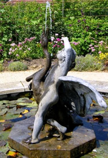 NT Barrington Court - boy and swan