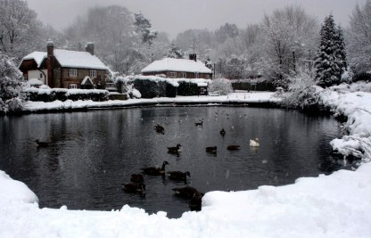 Mill Pond in the snow