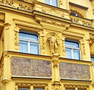 yellow windows art nouveau