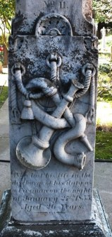 Monument to a firefighter