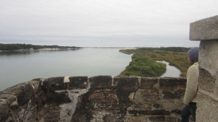 View from the top of the fort at MAtanzas River