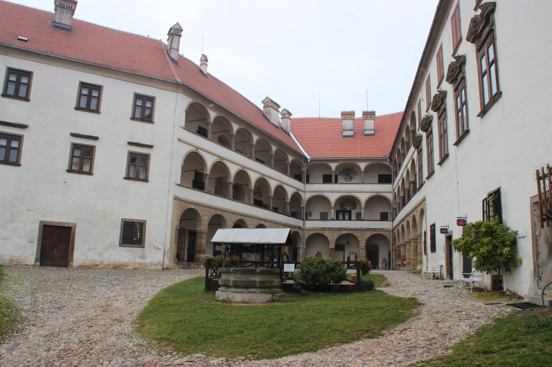 The castle's inner courtyard