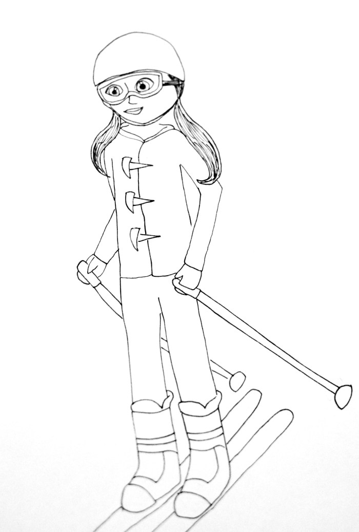 American Girl Coloring Pages: Activities