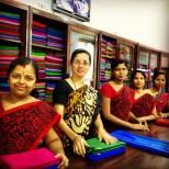 Usine de saris de soie, Mysore