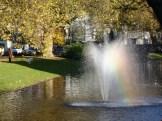 A lucky shot of a rainbow on the Boezemsingel