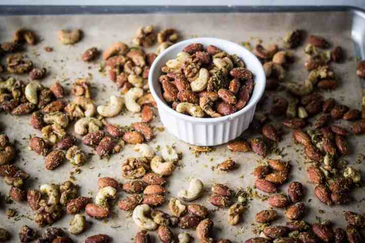 air fryer savory herb roasted nuts is part of my top 10 gluten free recipes of 2020