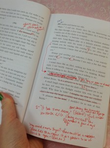 Yikes! My red pen has come out!