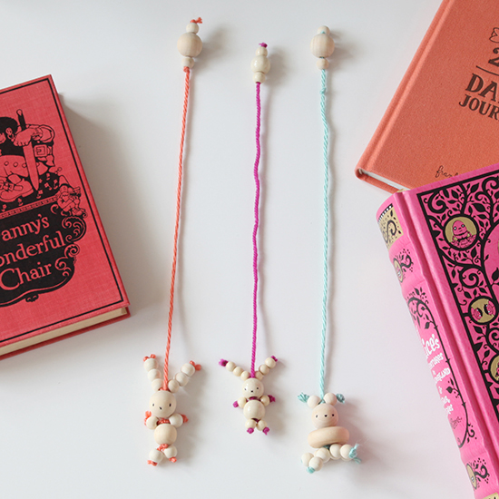 DIY Easter Bead Bunny Bookmarks Tutorial - Perfect for Kids to make and give as gifts