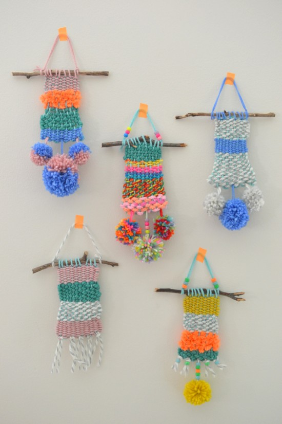 Weaving with kids art project