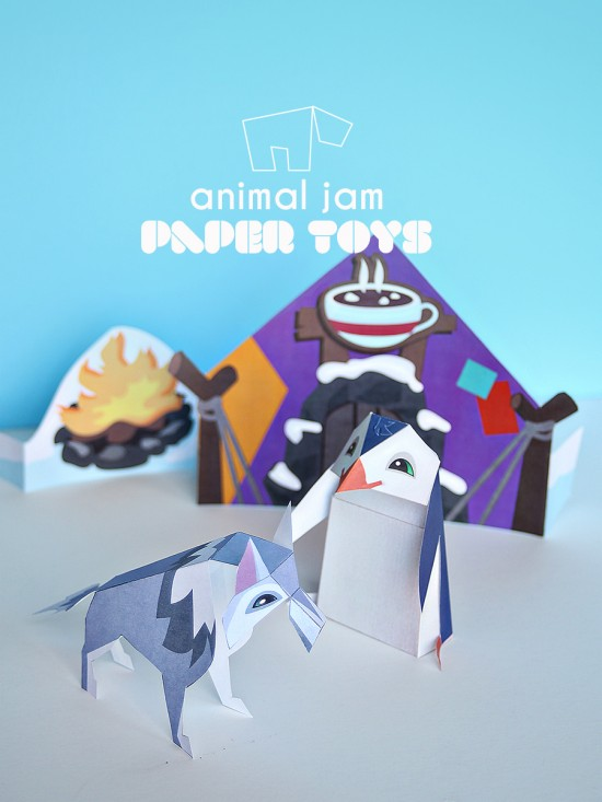 Animal Jam for National Geographic for Kids     Printable Paper Toys     Animal Jam for National Geographic for Kids   Printable Paper Toys DIY  Craft Project
