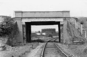 Cottonmill Lane Bridge 1953 after rebuild look West ©