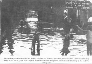 Fleetville Siding 1 flood in 1920s