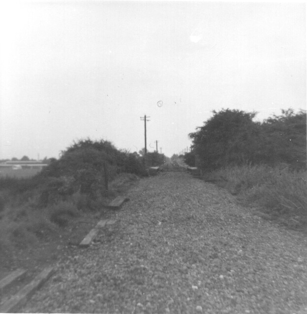Lemsford Rd Halt 1969 track being lifted
