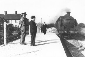 Lemsford Rd Halt opening day 1942 Loco No 4605