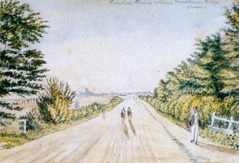London Rd circa 1800 site of MR bridge